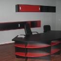 birou rosu negru rotund