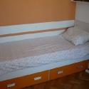 camera copii pat portocaliu