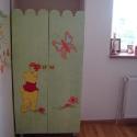 dulap verde vopsit pictat